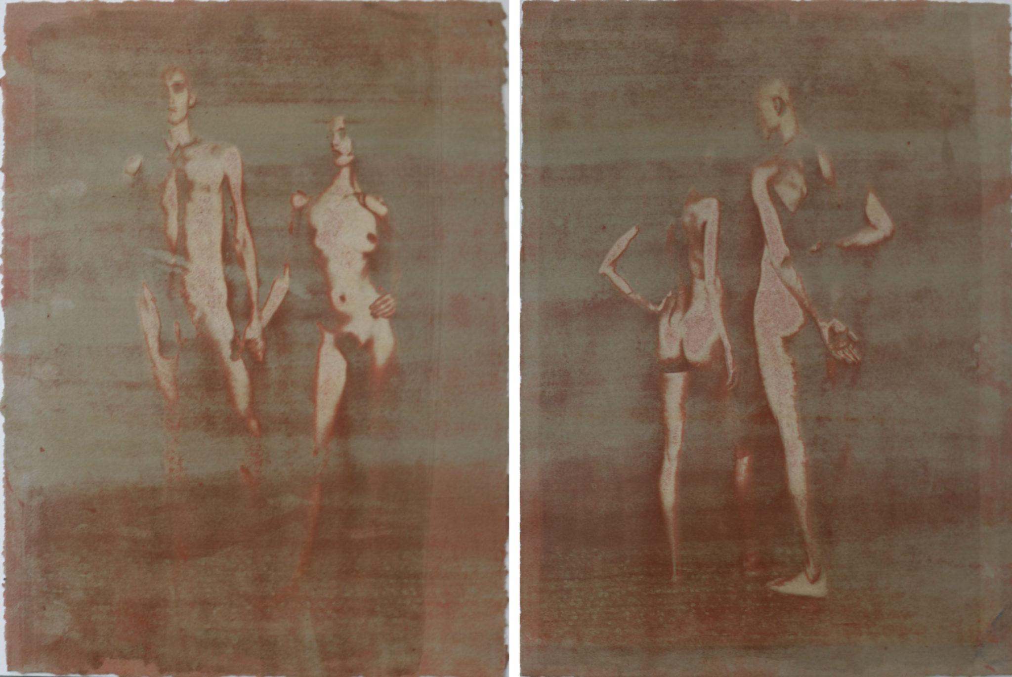 Igor Vishnyakov_11x15 Diptych on paper, contemporary